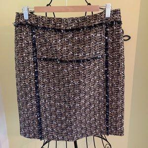 Tory Burch Classic Tweed Pencil Skirt Sz 8
